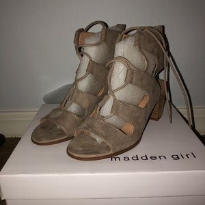 Madden Girl Taupe high heels